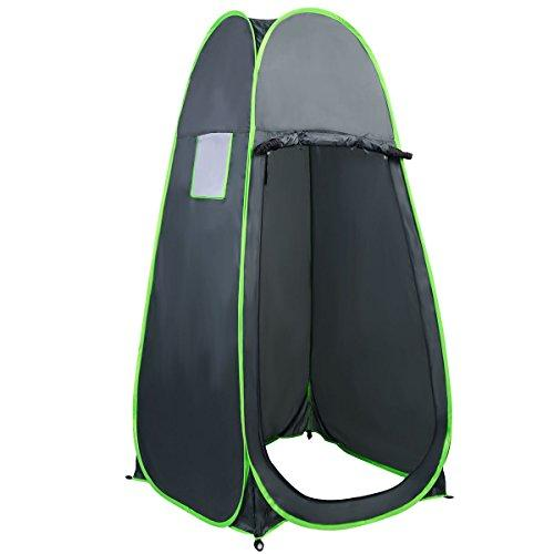 CASART Portable Pop up Bath Shower Tents Toilet Changing Fitting Tent Outdoor Camping Beach Private Room (Dark Green)