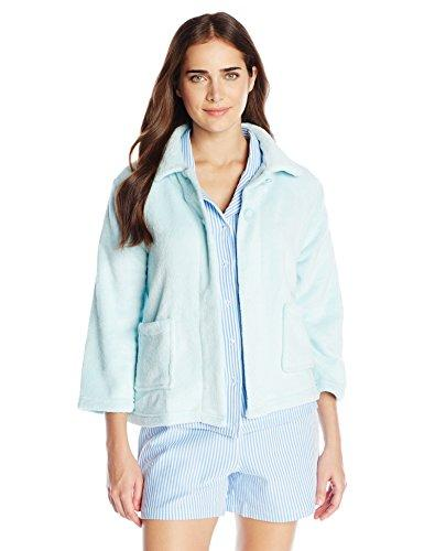 Casual Moments Womens Bed Jacket W/Peter Pan Collar Bed Jacket W/Peter Pan Collar Bathrobe - Blue -