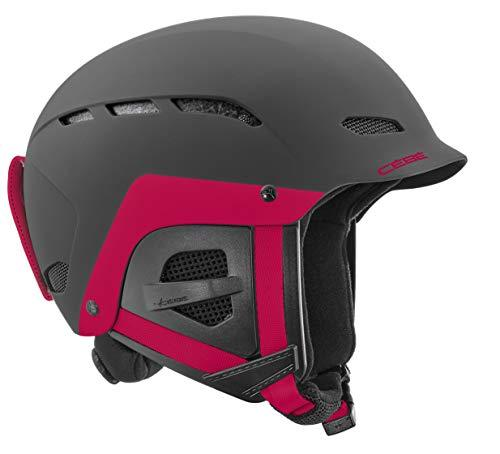 Cébé Youth Dusk Junior Ski Helmets Matt Black Pink Unisex-Baby 54-56 cm
