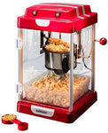 Celexon CinePop CP1000 Popcorn Machine - 22x17,5x28,5cm - Red Retro/Cinema Design - Stainless Steel Cauldron - Popcorn maker with integrated stirrer