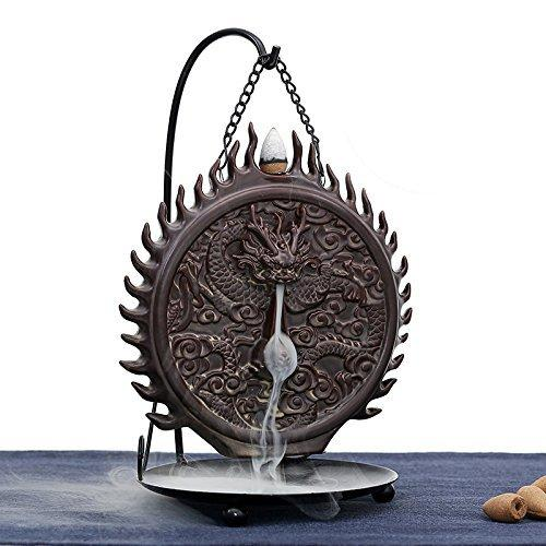 Ceramic Incense Holder Incense Burner Backflow Censer (Hanging Dragon)