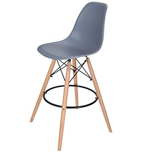 CFJJOAT Bar Stool Breakfast Kitchen Bistro Cafe Vintage Wood Dining Chairs Eiffel Style