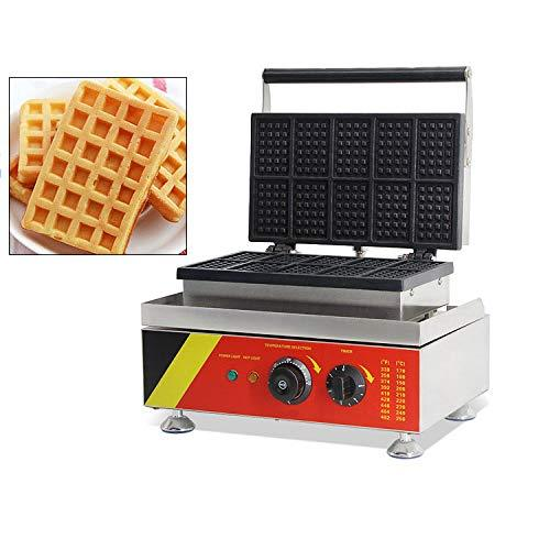 CGOLDENWALL Square Waffle Maker 10PCS 110V 220V Waffle Iron with Non Stick Cooking Plates 1500W Electric Fast Operation Waffle Machine Waffle Oven with Temperature Control Time Setting (110V)