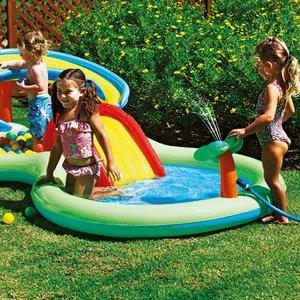 Chad Valley Activity Pool Play Centre. - eatures a sprinkler, slide and ball pit for extra amusemen