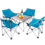 Chairs Folding Table Fishing Ergonomics Portable Cozy Strong Blue Moon Chairs With Backrest For Camping Beach Park Barbecue