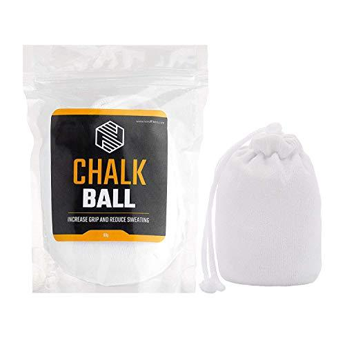 CHALK BALL | Sports Chalk | Superior Grip and Sweat-Free Hands for Weightlifting, Gym, Rock Climbing, Bouldering, Gymnastics, Pole Dancing and Fitness, CrossFit, Bodybuilding and More (20 x Ball)