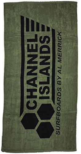 Channel Islands Surfboards Flag Towel Fitall Towel, Black/Green, One Size