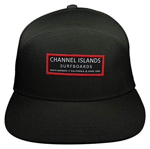 Channel Islands Surfboards Mr Clean 6 Panel Fitall Hat, Black, One Size