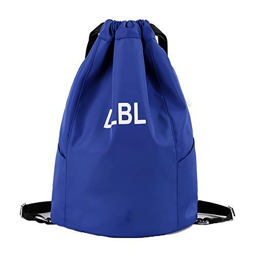 CHAOBAOBAO Women'S Blue Backpack Drawstring Drawstring Male Outdoor Travel Sports Waterproof Bag Lightweight Storage Bag/Fitness Bag, B