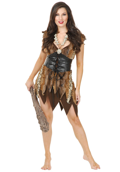 Charades Sexy Cave Woman Fancy dress costume Medium