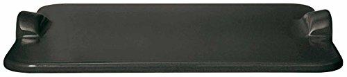 (Charcoal) - Emile Henry Made In France Flame BBQ Rectangular Grilling Baking Stone, 46cm x 36cm , Charcoal