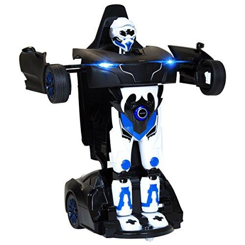 Charles Bentley RS X MAN Rastar Licensed Transformer Robot Remote Control Car 2 in 1 Toy - Black