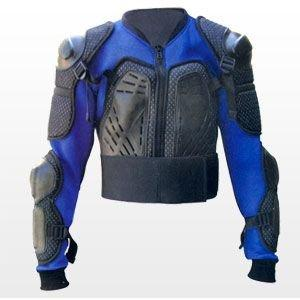 Cheyenne safety jacket – back protector – motorcycle gear – blue – size L