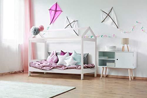 Chic Concept 3FT Single Kids Boys & Girls White Wooden Tree House Canopy Bed