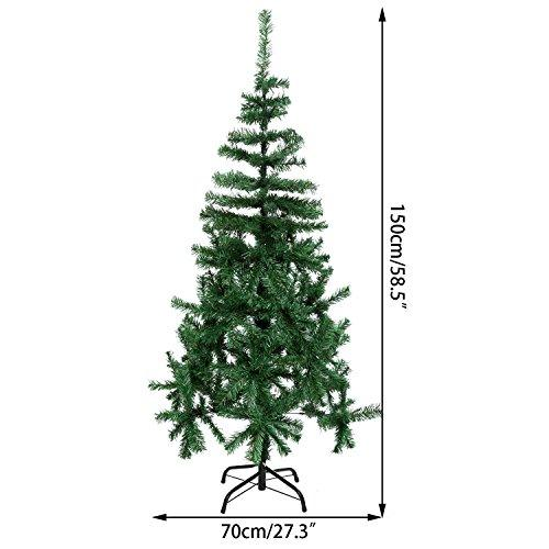 Artificial Christmas Tree Branches.Chigant Classic Artificial Christmas Tree Realistic Natural Branches Pine Xmas Decorative Arctic Spruce Tree With Metal Stand 5ft 1 5 Green
