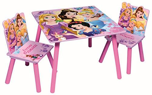 Children Wooden Table & Chairs Sets - Indoor Childrens Toddlers Playroom Furniture … (Disney Princess)
