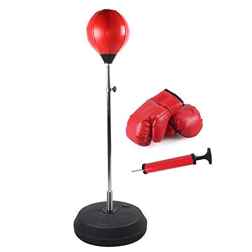 Children's boxing ball tumbler vent balls are outfitted with glove inflator pump,B,120-150CM