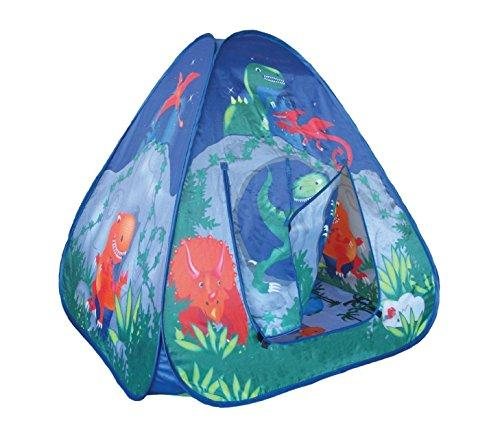 Childrens Pop Up Dinosaur Playtent with a Unique Printed Play Floor : Boys / Girls Toy Play Tent / Playhouse / Den