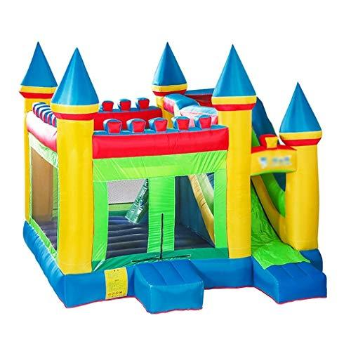 Children's Trampoline Outdoor Large Inflatable Castle Home Jumping Trampoline Children's Playground Playground Equipment Children's Slide Oxford cloth (Color : Color, Size : 380 * 320 * 410cm)