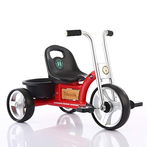 Children's Tricycle Bicycle 1-5 Years Old Child Light Tricycle Child Three-Wheeled Pedal Car (Color : RED)
