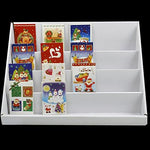 chinkyboo® Christmas & Greeting Card Display Shelves Cd Magazine Dvd Rack Book Stand White 4 Tiers