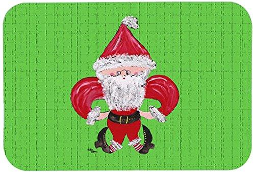 Christmas Fleur de lis Santa Claus Kitchen or Bath Mat 20x30