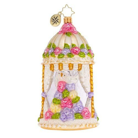 Christopher Radko Gazebo of Love Christmas Ornament