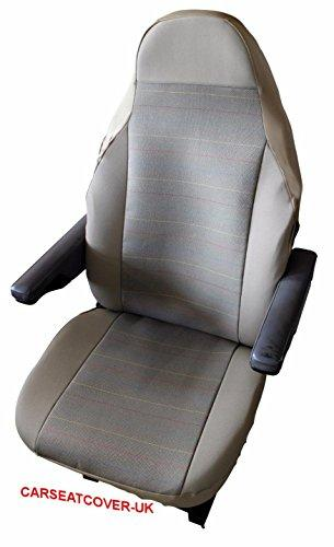 Citroen Relay - Pair of Luxury MOTORHOME Seat Covers [CHOICE OF 8 FABRICS][RAINBOW STRIPE]
