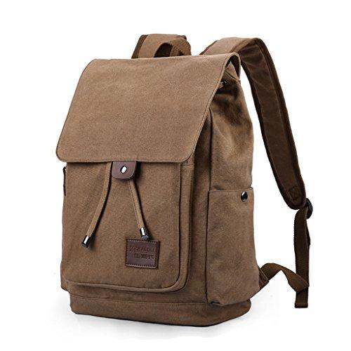 CJH Backpack Leisure Travel Bag Men And Women Canvas Bag Computer Travel Backpack Middle School Student Bag
