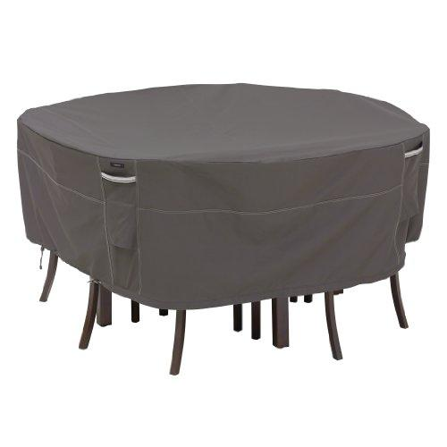 Classic Accessories 55-157-035101-00 Ravenna Round Patio Table & Chair Cover, Medium