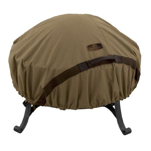 Classic Accessories 55-199-012401-EC Hickory Heavy Duty Round Fire Pit Cover, Small