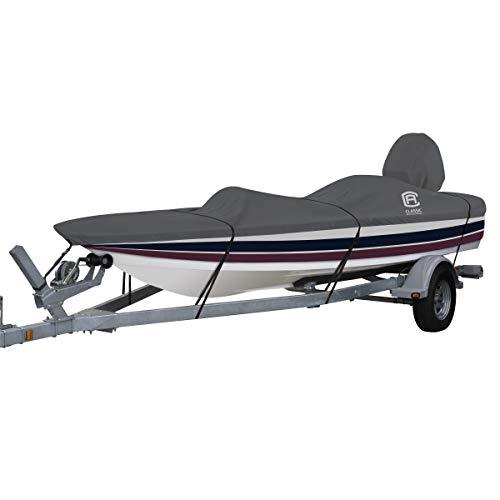 "Classic Accessories StormPro Heavy Duty Outboard Ski-Boat Cover with Support Pole, Fits Boats 18'6"" - 19'6"" L x 89"" W"