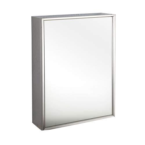 Clickbasin Single Door Tall Mirror Bathroom Wall Cabinet 400mm x 600mm ALMERIA