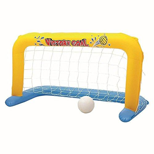 CloudWhisper Inflatable Volleyball Net Match with Volleyball Water Swimming Toys for Family Fun (137cm x 66cm)