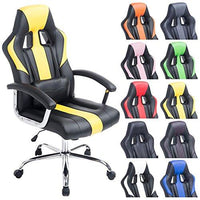 CLP Office Desk Chair OLYMP, height adjustable office chair, max. capacity 150 kg, upholstery, choice colours black/yellow