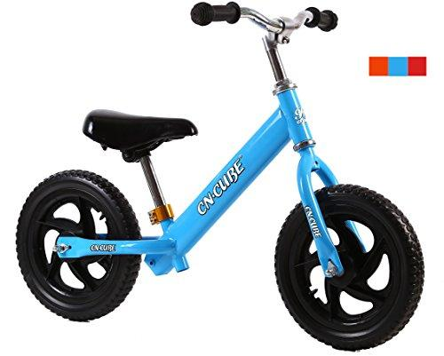 CN CUBE Balance Bike No Pedal Push Walking Bicycle, Blue, 2-6 years old