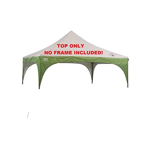 Coleman 10x10 New Instant Sun Shelter Canopy -Gray & Green Fabric TOP Tent Replacement Only