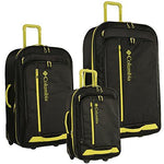 Columbia Yahara 3 Piece Luggage Set, Black