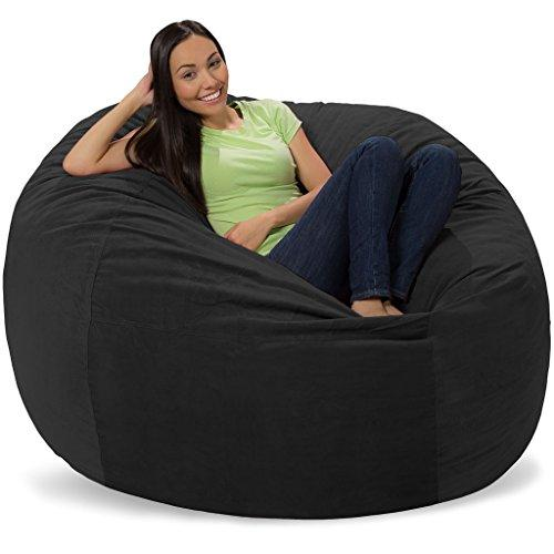 Comfy Sacks 5 ft Memory Foam Bean Bag Chair, Graphite Pebble