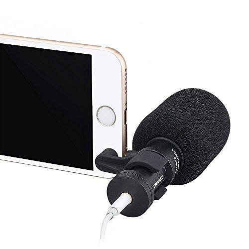 COMICA CVM-VS08 Professional Cardioid Directional Condenser Mini Shotgun Video Microphone for iPhone IOS and Android System Smartphones(Wind Muff included)