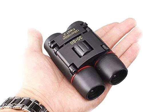 Compact Small Binoculars 30x60 Powerful Folding Telescope With Clean Cloth and Carry Case, Lightweight Pocket Binoculars For Adults, kids, Bird Watching, Astronomy
