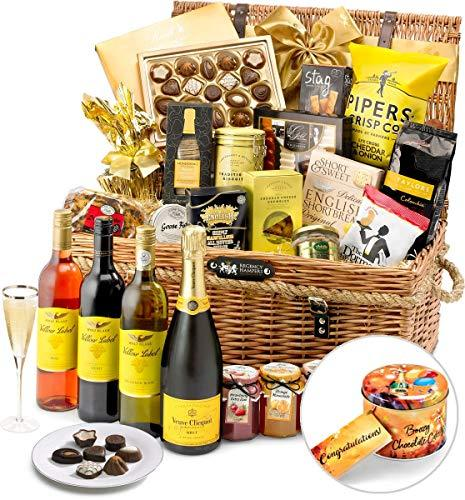 Congratulations Kew Gift Hamper With Veuve Clicquot Champagne