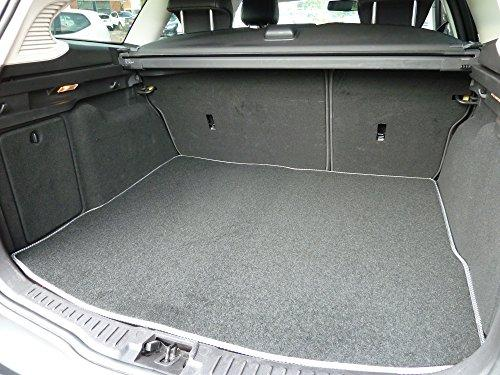 Connected Essentials CEB750 Car Mat Set for XJ (2010-Onwards), Black With Grey Trim, Prestige Bootmat