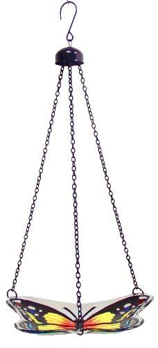 Continental Art Center CAC2610320A Hanging Blue Butterfly Bird Feeder with Chains, 9 by 7-Inch