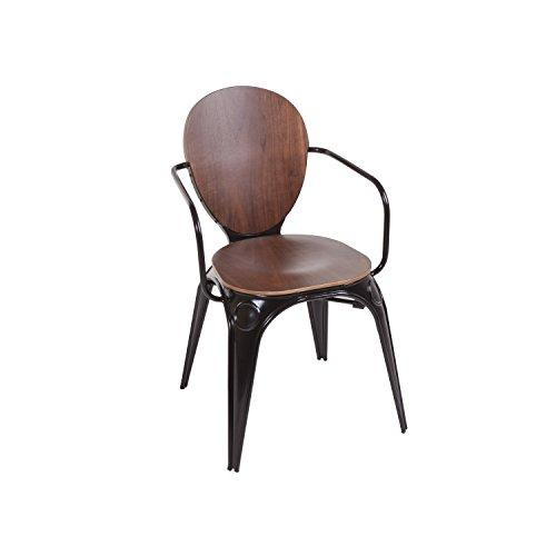 "Control Brand FOC53384WALNUT Fiskar Arm Chair, 32.87"" by 23.62"" by 20.47"""