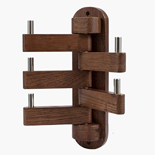 Cooking & Dining Hanger hanger solid wood rotating clothes hanging bedroom oak coat hook wall hanging tree coat rack hanger (Color : Walnut color, Size : 25 * 18 * 30cm)