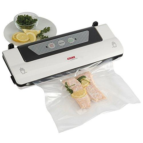 Cooks Professional Food Vacuum Sealer Machine Kitchen Sous Vide Cooking, Food Saver with 3m Roll Storage Bags for Food (Food Sealer)