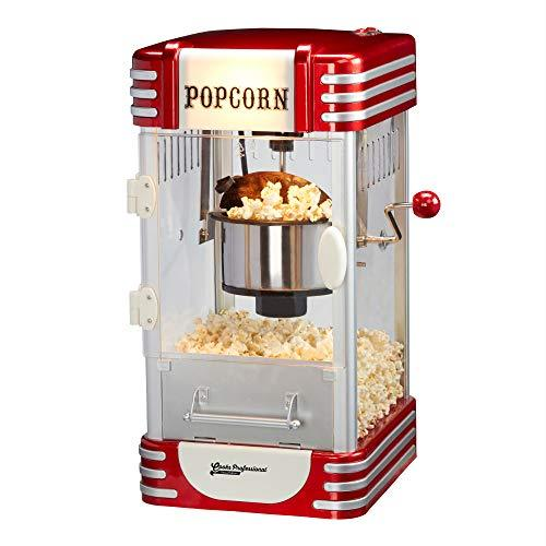 Cooks Professional Popcorn Maker Machine Retro 1950's Edition Hot Air Popper with Measuring Scoop L30.5 x W29.5 x H49.5cm 310W