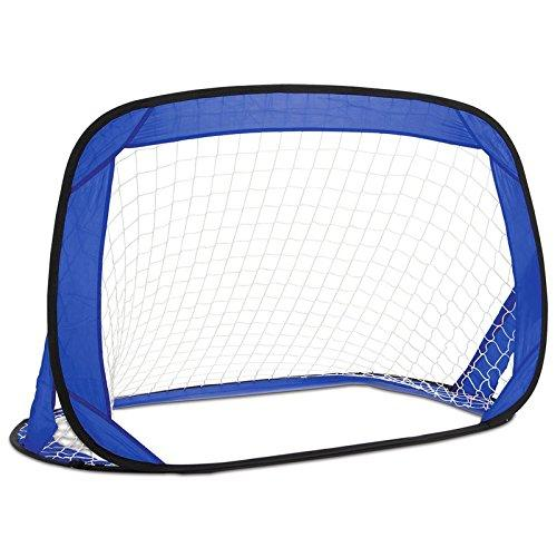 CostMad Portable Pop Up Football Soccer Goal Post Net & Pegs Kids Childrens Junior Fun Small Indoor Outdoor Sport Training Practice Set 122cm x 66cm x 66cm
