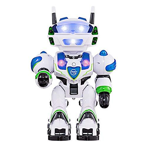 COSTWAY Upgrade Intelligent Remote Control Robot with Interactive Function, Sing Dance Walk Slide, Rotatable Head, Light Effect, Non-toxic ABS Materials, USB Rechargeable, Perfect Kids Toy
